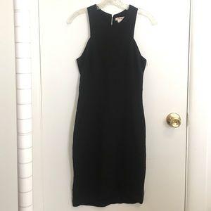 Sexy Helmut Lang Small Black Pencil Dress